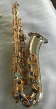 Professional C Melody Saxophone gold key silver body Free  Neck+case