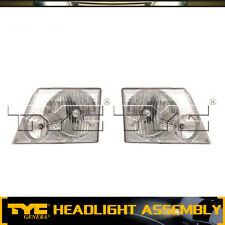 TYC 2pc Headlight Lamp Assembly Left Right Set For 2002-2005 Ford Explorer
