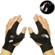 1Pair Night Light Waterproof Fishing Gloves with Led Flashlight Rescue Tools