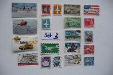 20 verschiedene Briefmarken Motiv Flugzeuge, Set 3 : USA, DDR, Bundesrepublik D