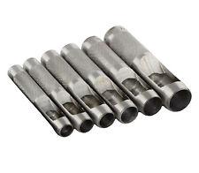 "NEW 6-pc Leather Craft Hole Punch Set  3/8"", 7/16"", 1/2"", 9/16"", 5/8"", 3/4""."