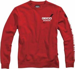 100% Men's Geico Honda Sect Sweatshirt S Red 36906-003-10
