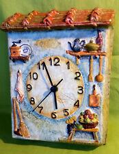 Orologio da parete in ceramica - casa decoro cucina - NON funzionante