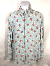 NWT Emporio Giorgio Armani Mens Long Sleeve Floral Button Down Dress Shirt Sz S