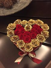 Flowers in box Miami delivery, preserved roses box, eternity roses last a year!