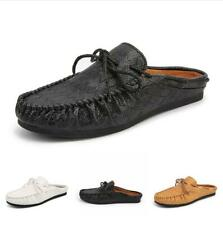 Men Moccasins Loafers Casual Round Toe Shoes Comfort Slippers Breathable Slip On