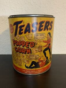 Teasers Popped Corn 1 Gallon Can, Los Angeles