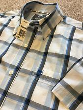 BNWT Timberland audaz Cheque Manga Corta Camisa De Verano S pequeño coste de £ 80