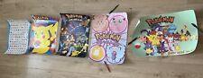 5 Retro Vintage Pokemon Posters 1998 1999 2000 Pikachu Ash Ketchum Mewtwo