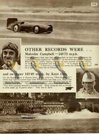 Malcolm Campbell & Kaye Don, World Records, 1931, Book Illustration, 1938