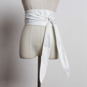 New Women Satin Belt Japanese Obi Wide Kimono Waistband Strap Faux Silk Vintage