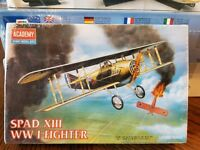 1/72 ACADEMY SPAD XIII WWI FIGHTER 1623 SEALED PARTS