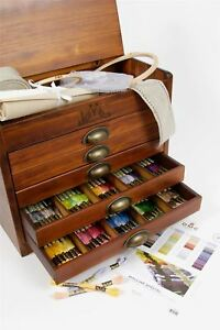DMC Wooden Collectors Box includes one each of all 500 Stranded Cotton Threads