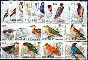 Aitutaki 1981 Birds set of 32 to 70c SG317-348 V.F MNH