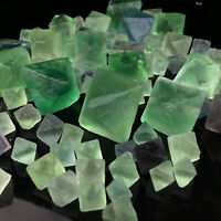 A lot of Natural green Fluorite Crystal Octahedrons Rock Specimen 50g