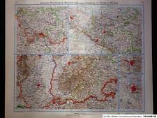 Landkarte Saargebiet, Weserbergland, Oberelsaß, Breisgau, 1942