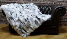 Luxury Platine Fox Throw Blanket