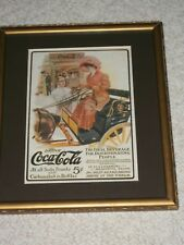 "1906 COCA-COLA Ad""LADY In Horse CARRIAGE"" Drink Glass,Serving Tray,SODA FOUNTAIN"