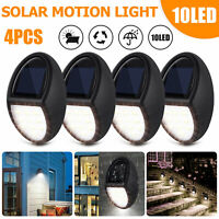 Solar Powered 10 LED Deck Lights Outdoor Path Garden Stairs Step Fence Lamp 4PCS