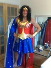 man or tall WONDER woman COSTUME + star & stripe cape