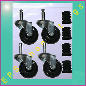 "Garment Clothes Rail Wheels CASTORS 2""  wheels for 25mm tube (SET OF 4)"