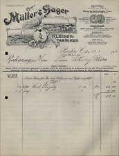 BERLIN, RHEINDAHLEN, M.GLADBACH, Rechnung 1912, Kleider-Fabriken Müller & Hager