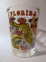 FLORIDA MAP SHOT GLASS SHOTGLASS