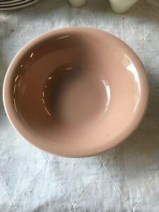"Vintage Harkerware Pink Cocoa 8 3/4"" Serving Bowl"
