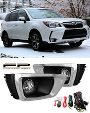For 2014 2015 2016 Subaru Forester XT Clear Fog Lights Lamps Full Complete Kit