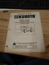 Original Oem Kubota G2000 Blade Manual