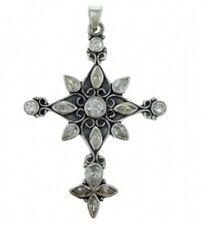 Silberschmuck Halskette mit Kreuzanhänger 925-iger Silber 60 cm