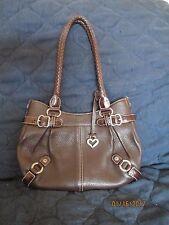 vintage BRIGHTON brown pebbled leather small purse, handbag