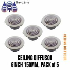 """DOWNJET 6""""/150mm DUCTED HEATER CEILING DIFFUSER - PART# DJ6-PACK OF 5"""
