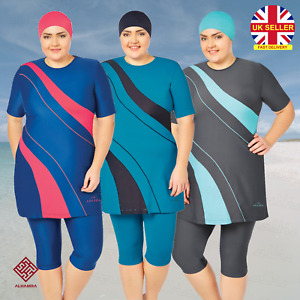 AlHamra AL3049 Semi Cover Burkini Modest Women Swimsuit Muslim Plus Size 3XL-6XL