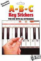 Learning How To Play The Piano Key Reusable ABC Keyboard Sticker For Music Lover