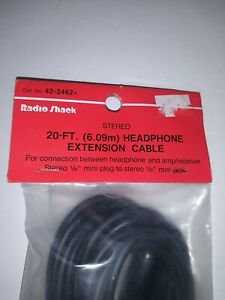 RadioShack 20-foot headphone extension cable stereo