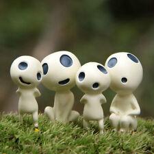 4 Figures Princess Mononoke Forest Spirit Elf Kodama Gardening Ornaments Dolls