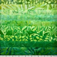 10 BY THE THEME LEAFY GREENS FAT QUARTERS BATIK LUNN FABRICS FAT QUARTER