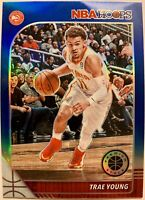 2019-20 NBA Hoops Premium Stock Trae Young BLUE Prizm No.1 Atlanta Hawks🔥