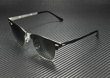 RAY BAN RB3716 900471 Clubmaster Metal Silver Black Light Grey 51 mm Sunglasses