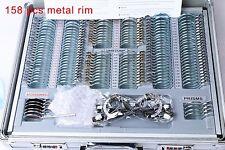 158 pcs Optical Trial Lens  Set Metal Rim Aluminium Case + A Free Trial Frame