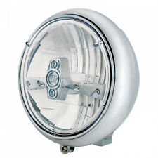 Chrome HD Heritage, Fat Boy, Softail Grooved Headlight with Chrome LED Bulb