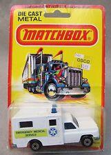 Matchbox #41 AMBULANCE EMERGENCY MEDICAL SERVICE Superfast factory sealed MOC