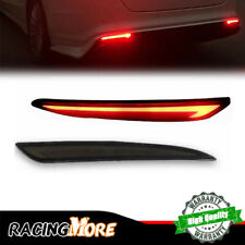 For 2013-18 Ford Fusion Mondeo Smoke Lens LED Rear Bumper Reflector Tail Lights