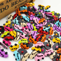 New 50pc 20mm Mix Print Tree Wood Buttons Sewing Crafts Accessories WB191