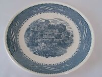 Taylor Smith Ironstone CURRIER IVES Collectible Dinner Plate Blue Castle