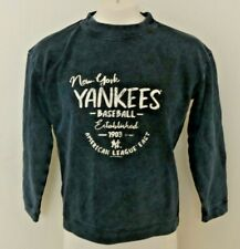 NEW New York Yankees Sweatshirt W M Navy Crew Cozy MLB Distressed Baggy