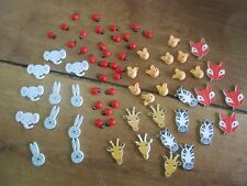 Large 60+ Group of Stick-On Ladybirds & Animal Faces for Christmas Gifts