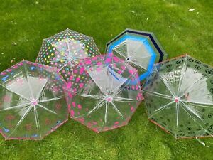 Transparent Children's Umbrella With Patterns - Choose From The List New