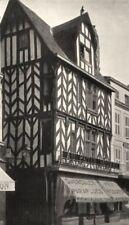 CHARENTE-MARITIME. La Rochelle- Vieille maison 1904 old antique print picture